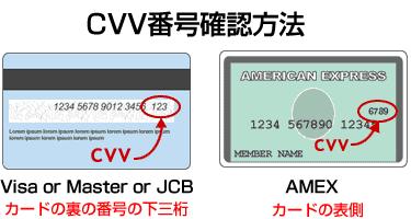 クレジットカードcvv確認方法